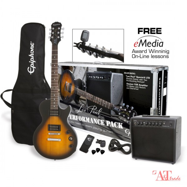 epiphone les paul special ii player pack ebony № 277365